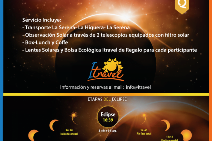 Tour Eclipse Solar Total 2 de Julio de 2019 ¡CUPOS AGOTADOS!